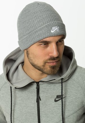 FISHERMAN BEANIE - Pipo - dark grey heather/white