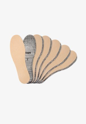 6 PAIR PACK THERMAL WARM CUT TO SIZE - Vložky do bot - beige
