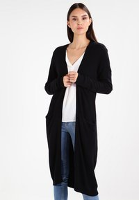 Vila - VIRIL LONG CARDIGAN - Cardigan - black - 0