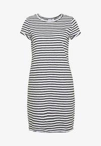 TEE DRESS - Jersey dress - black/white