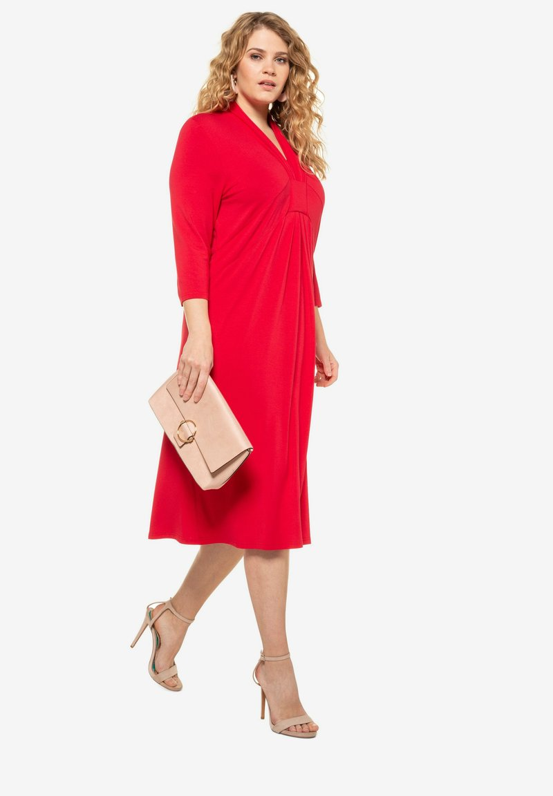 Ulla Popken - Jersey dress - apple red