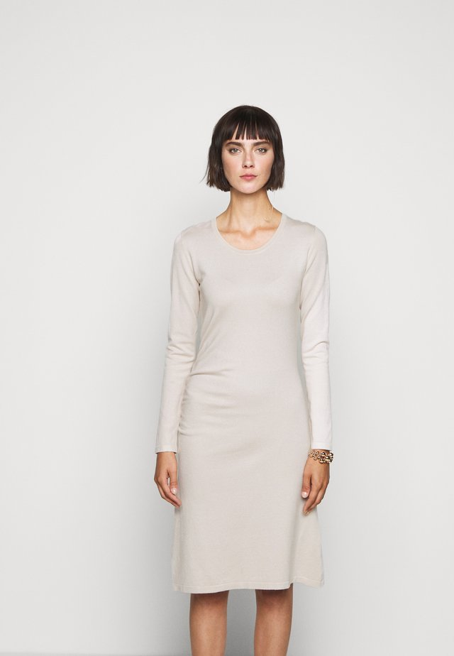 STRETCH DRESS SPECIAL - Abito in maglia - almond