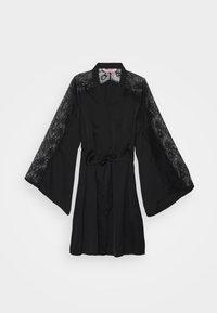 Hunkemöller - KIMONO  SLEEVE INSERT - Dressing gown - black - 5