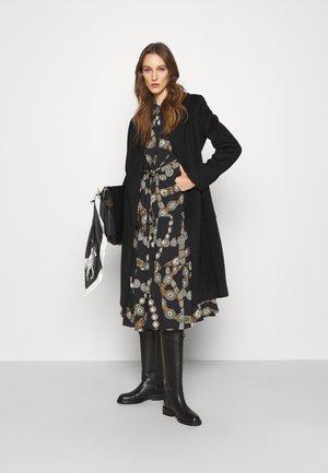 LINED COAT - Klasický kabát - black