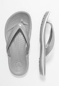 Crocs - CROCBAND FLIP UNISEX - Pool shoes - light grey/white - 1