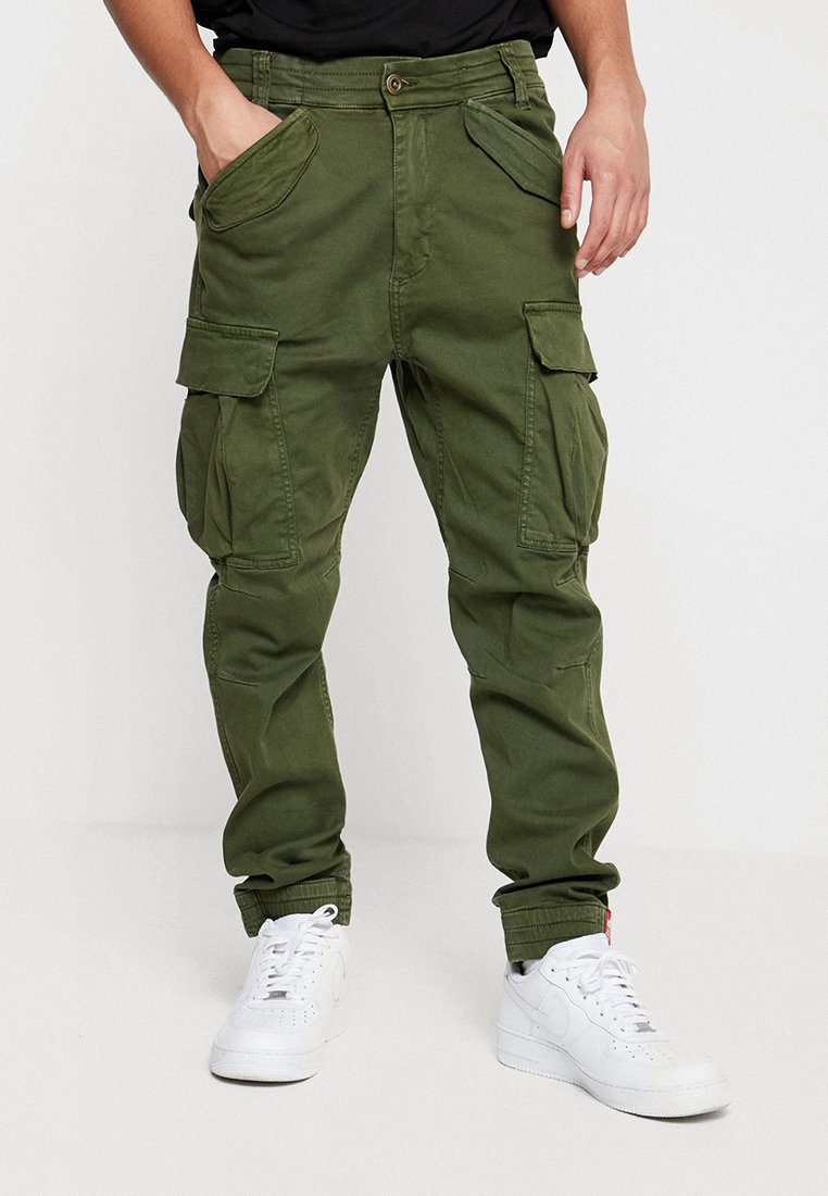 Alpha Industries - AIRMAN - Cargo trousers - dark oliv