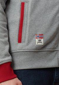 Napapijri - BARDARA  - Zip-up sweatshirt - grey - 5