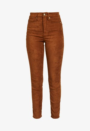 GOOD WAIST - Trousers - tobacco