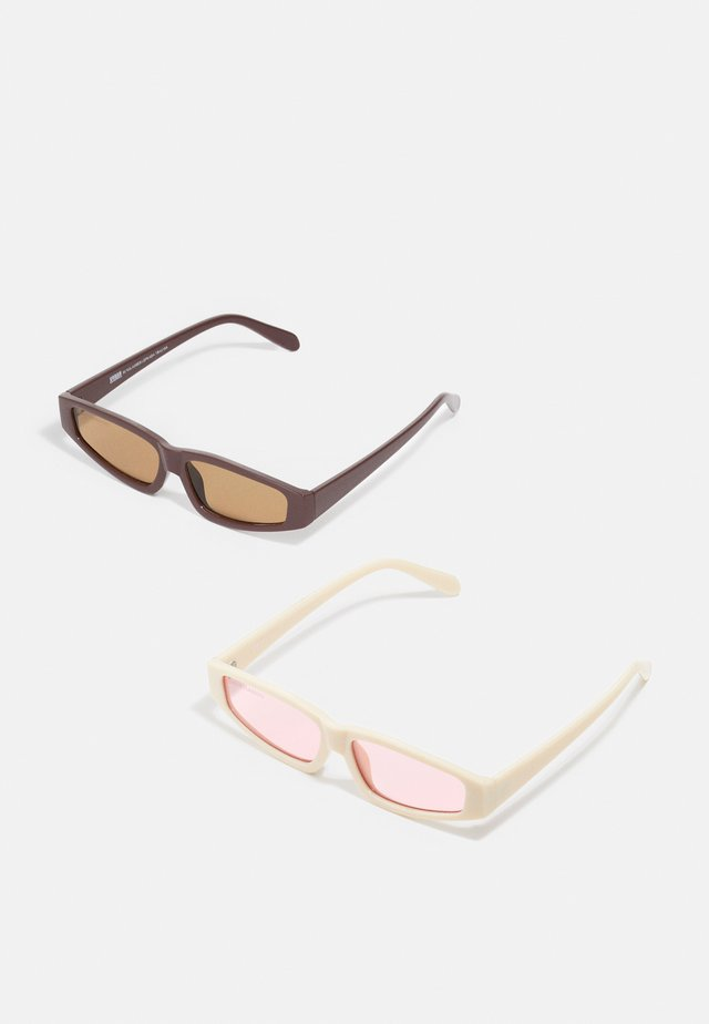 SUNGLASSES LEFKADA UNISEX 2 PACK - Zonnebril - brown/offwhite/pink