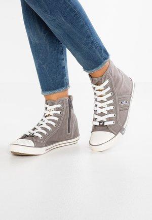 Sneakers high - silbergrau