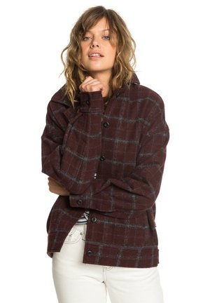 Button-down blouse - decadent choco wool blur check