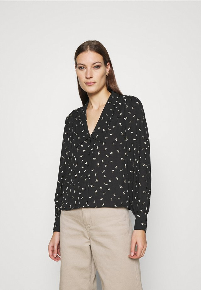 HYDRA BLOUSE - Button-down blouse - black