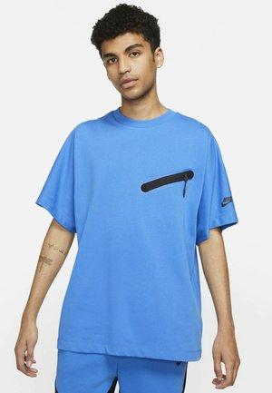 Print T-shirt - signal blue/black