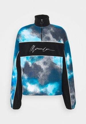 TIE DYE PANELLED UNISEX  - Sweatshirt - blue