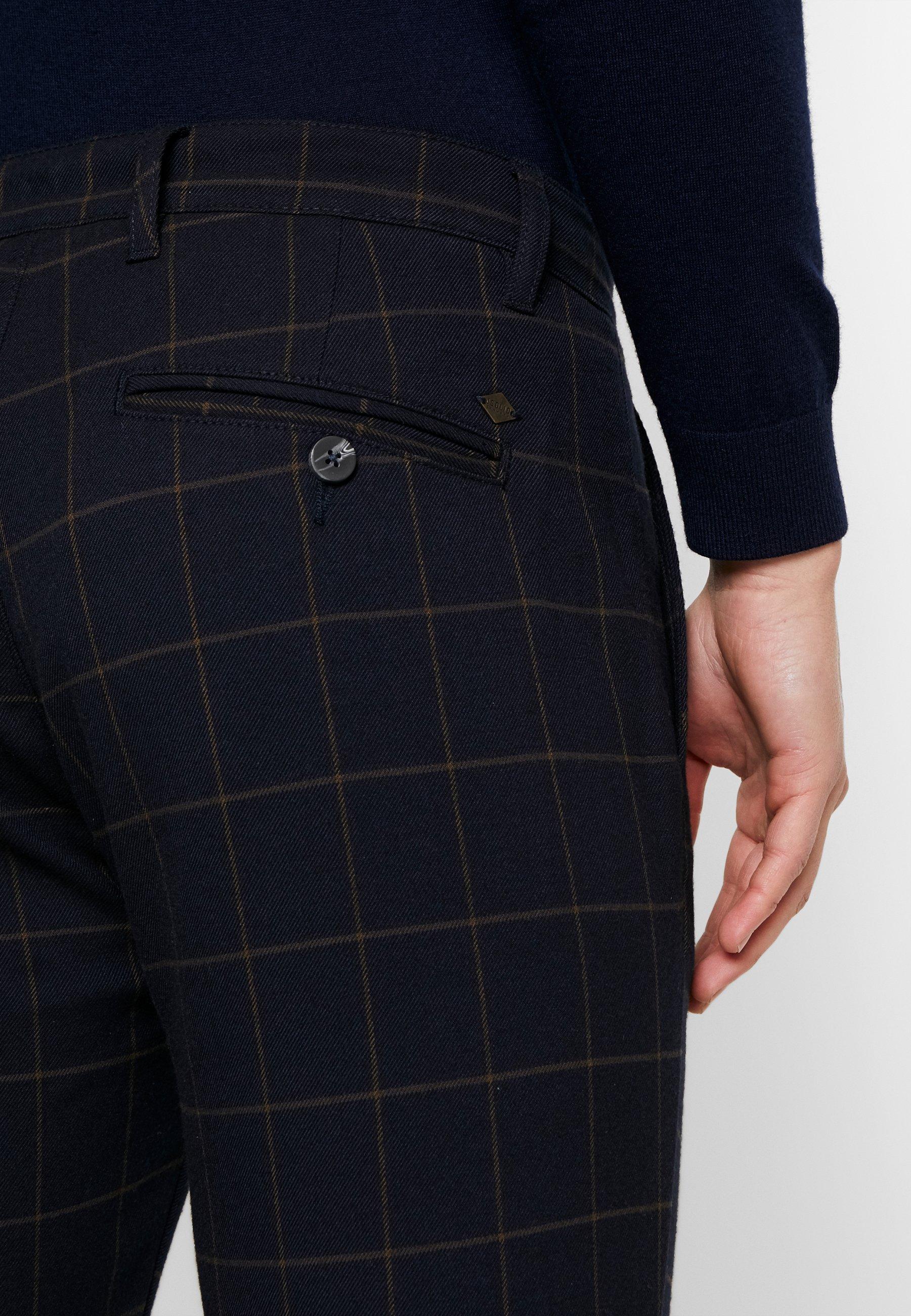 Solid SLIM TRAVIS CROPPED - Pantalon classique - insignia blue