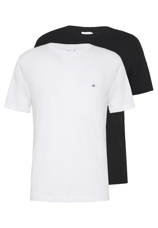 LOGO 2 PACK - T-shirts - black/white