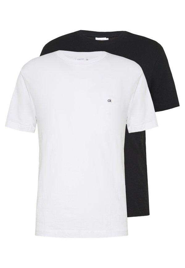 Calvin Klein LOGO 2 PACK - T-shirt basic - black/white/czarny Odzież Męska GNEO