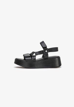 Sandalen met sleehak - black blk