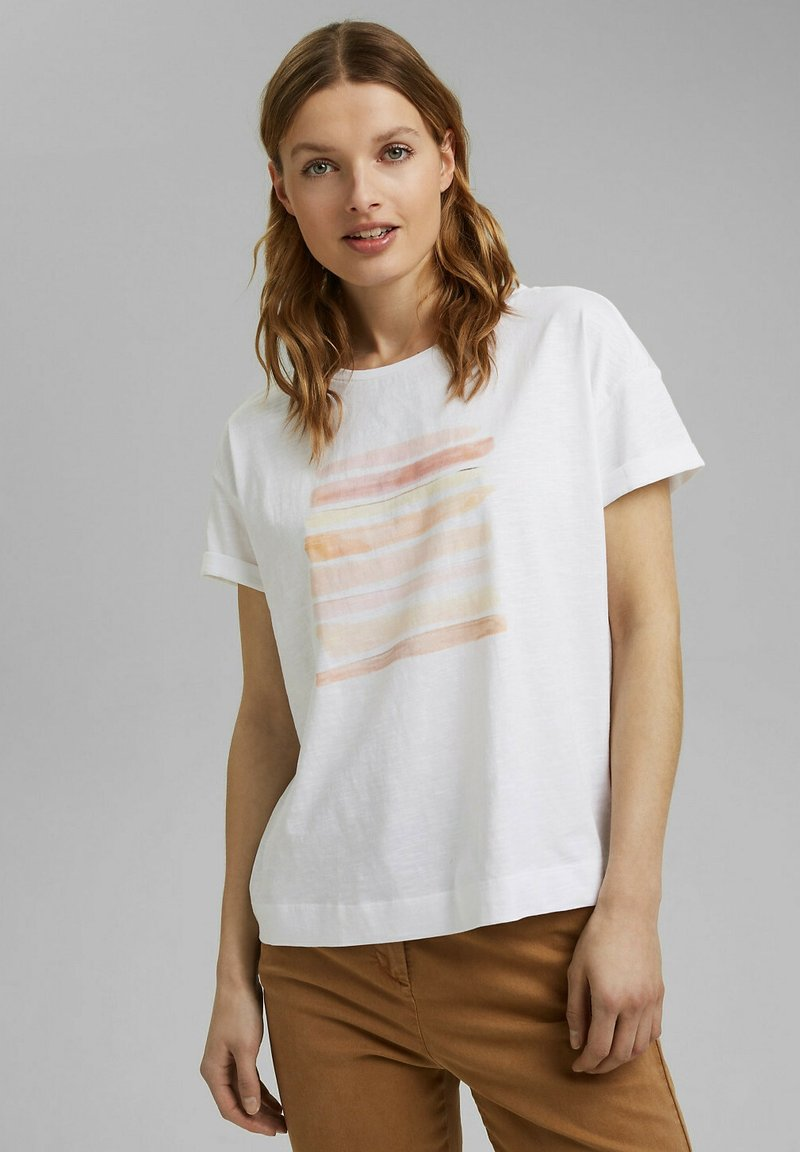 Esprit - Print T-shirt - white colorway