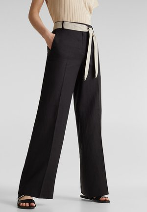 HR FLARED - Trousers - black
