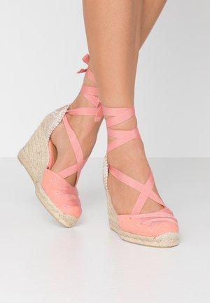 CUCU  - High heeled sandals - albaricoque