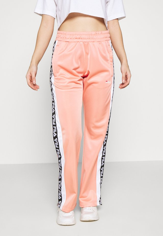 TAOTRACK PANTS OVERLENGTH - Spodnie treningowe - lobster bisque / bright white