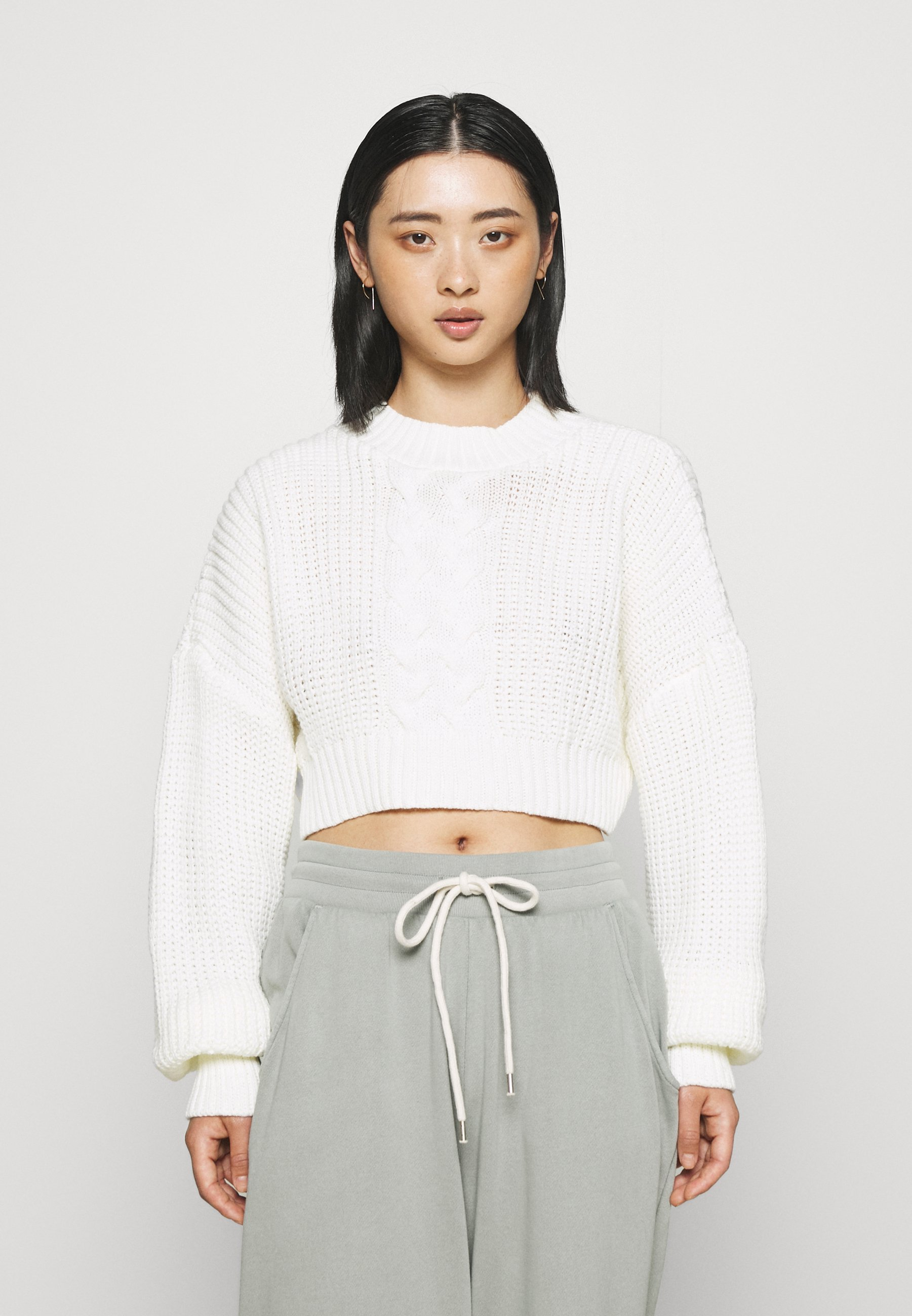 Mujer CROPPED CABLE JUMPER - Jersey de punto