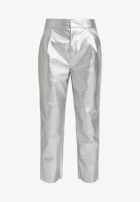 Nly by Nelly - FREE PANTS - Trousers - silver - 3