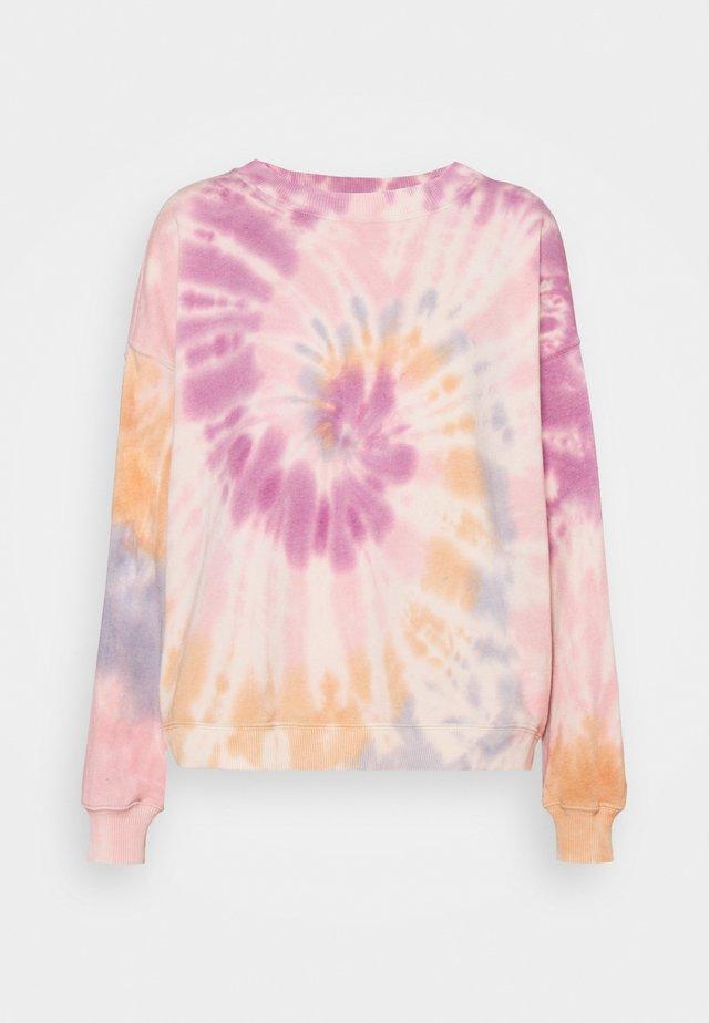 CREW TIE DYE - Sweatshirt - berry