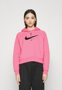 Nike Sportswear - HOODIE - Jersey con capucha - pink glow/black - 0
