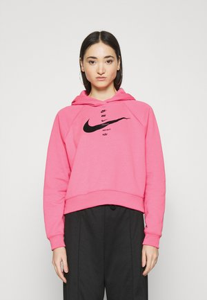 HOODIE - Jersey con capucha - pink glow/black