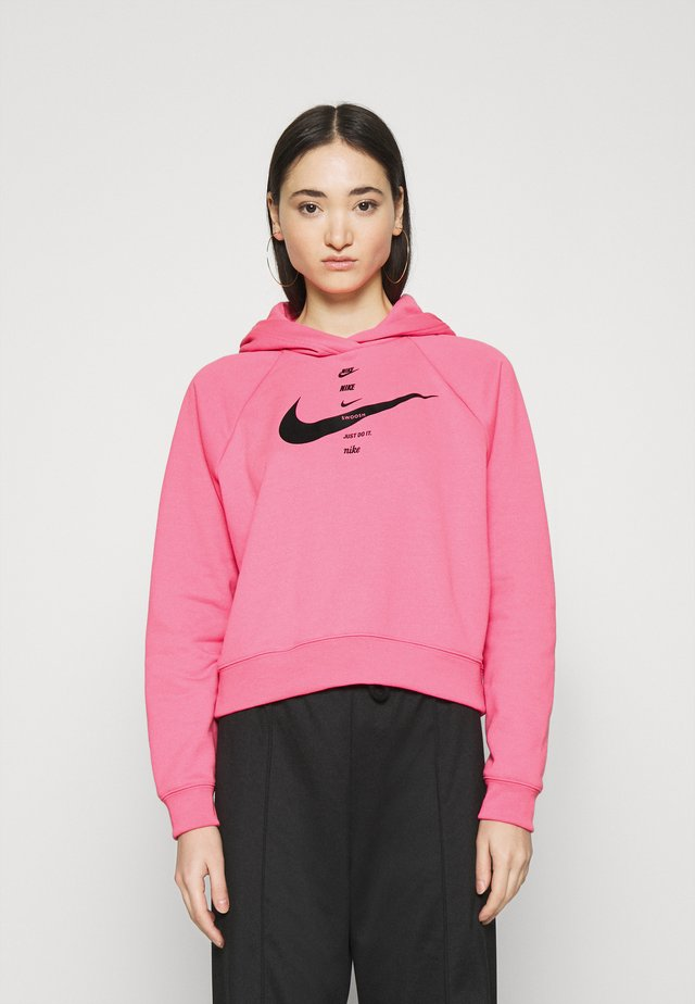 HOODIE - Bluza z kapturem - pink glow/black