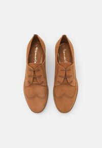Tamaris - Šněrovací boty - muscat - 5