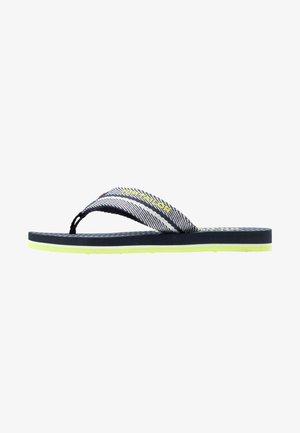 Sandály s odděleným palcem - navy/white/neon green