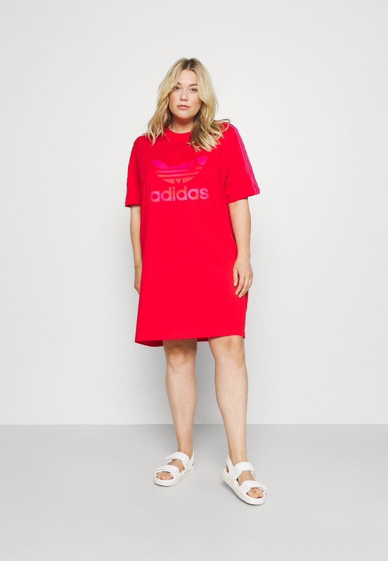 adidas Originals - TEE DRESS - Jersey dress - vivid red