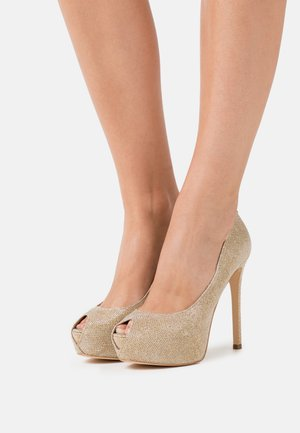 High Heel Peeptoe - gold