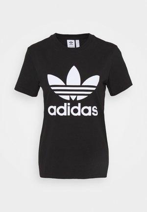 TREFOIL TEE - T-shirt z nadrukiem - black