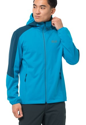 GO HIKE  - Soft shell jacket - blue jewel