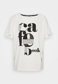 comma casual identity - KURZARM - Print T-shirt - off-white - 4