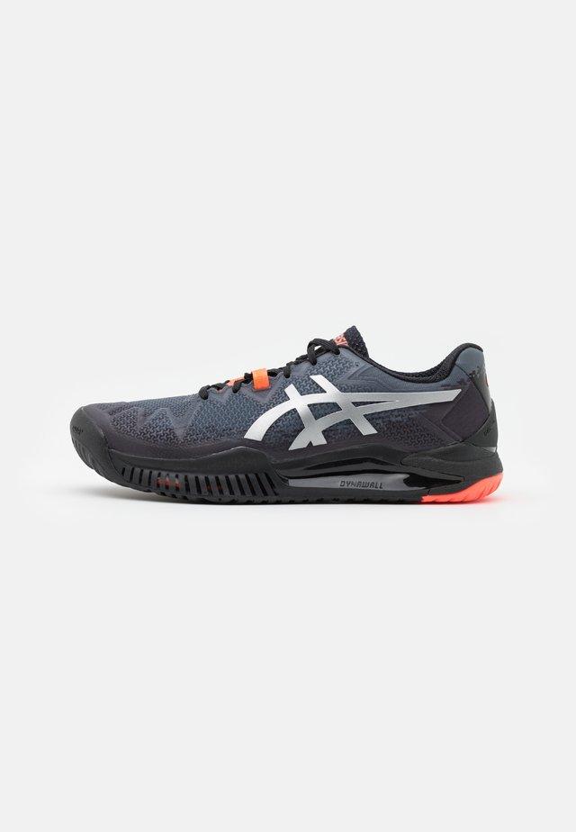 GEL-RESOLUTION 8 L.E. - Tenisové boty na všechny povrchy - black/sunrise red