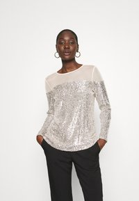 Dorothy Perkins - INSERT SEQUIN LONG SLEEVE - Blouse - champagne - 0