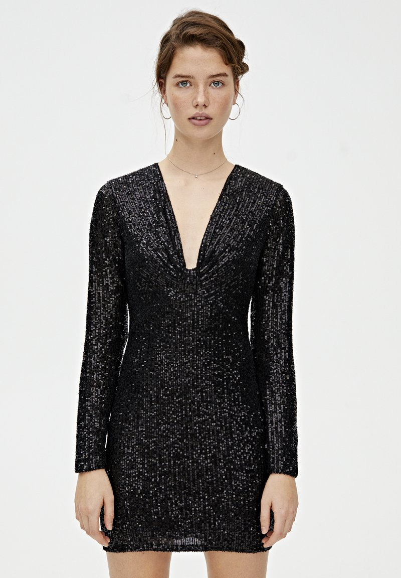 PULL&BEAR - MIT ZIERKNOTEN - Sukienka koktajlowa - black