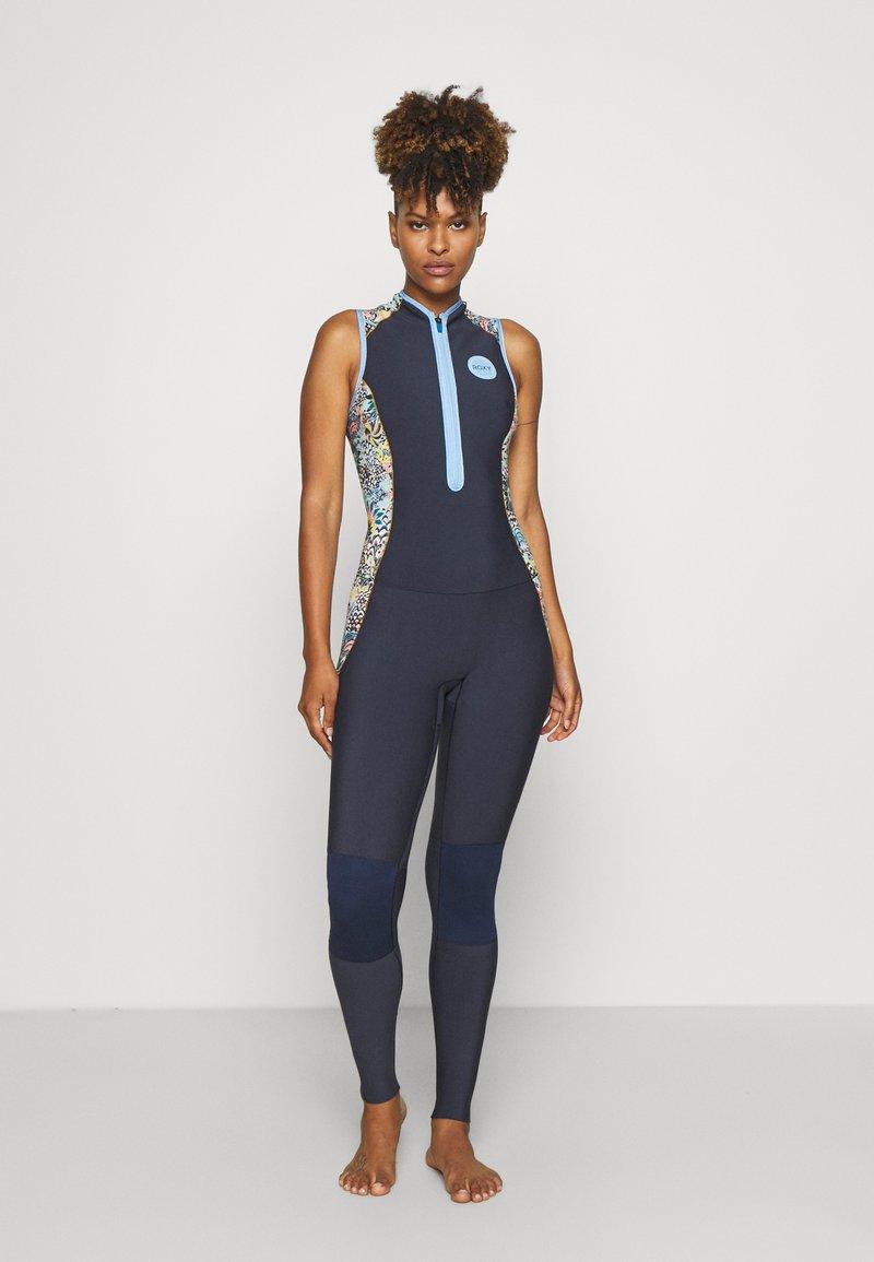 Roxy - MARINE BLOOM LONG - Swimsuit - dark navy/allure/sulphur