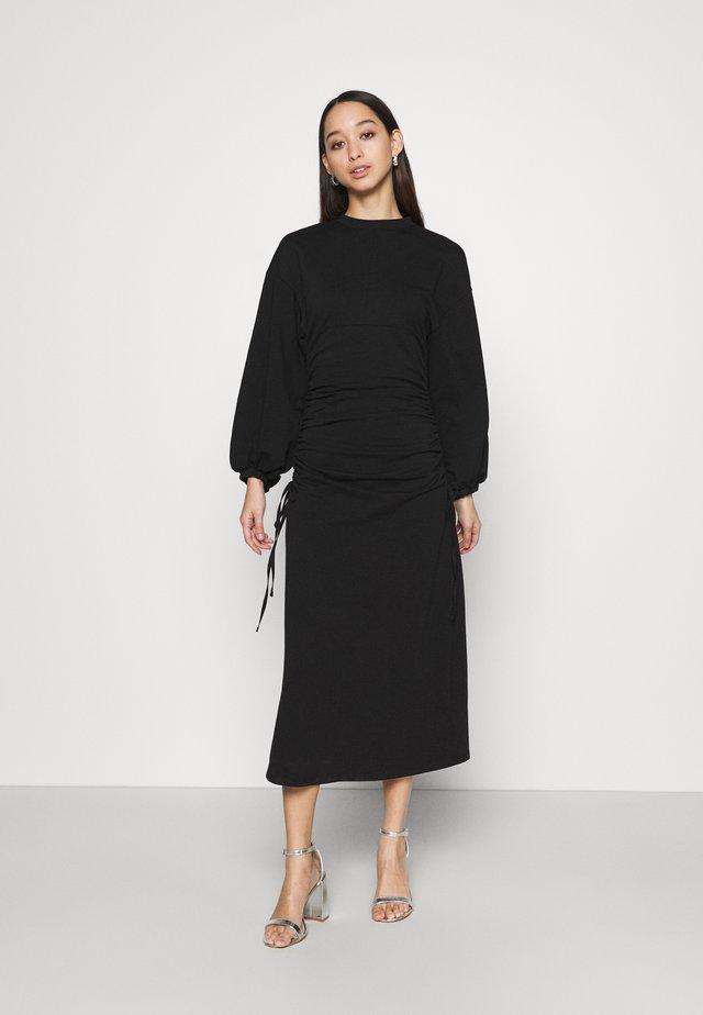 EDITOR RUCH SIDE MIDI - Maxi dress - black