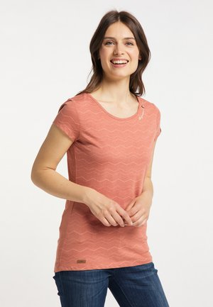 MINT CHEVRON - Print T-shirt - coral