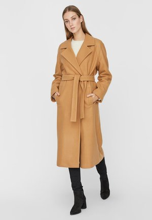 Classic coat - tobacco brown