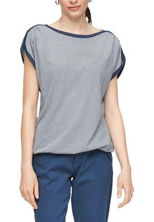 Print T-shirt - faded blue stripes