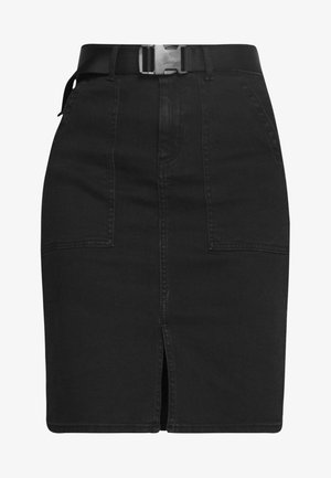 Pencil skirt - black denim