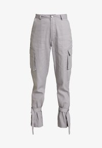 Missguided - D RING TIE HEM CARGO TROUSER - Trousers - grey - 3