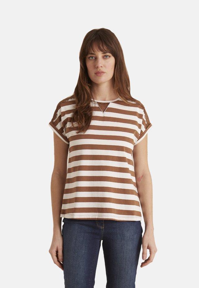 Print T-shirt - marrone